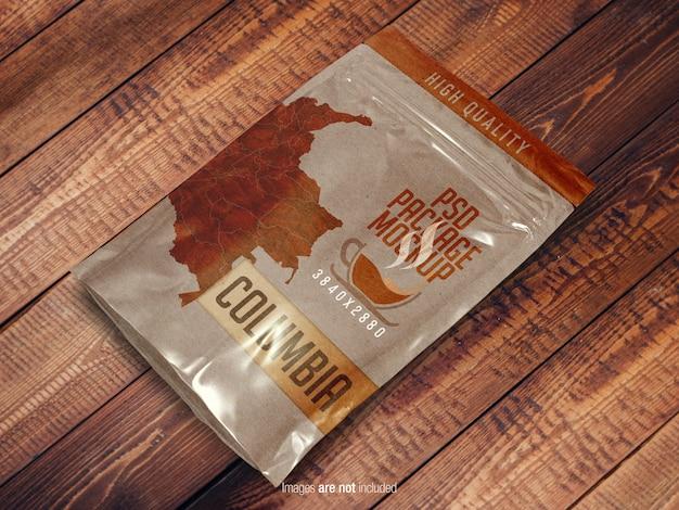 Doypack pochette sac maquette vue generale PSD Premium