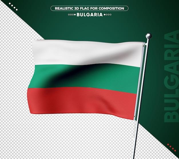 Drapeau 3d De La Bulgarie Avec Une Texture Réaliste PSD Premium