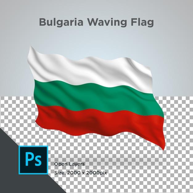 Drapeau De La Bulgarie Vague Transparente Psd PSD Premium