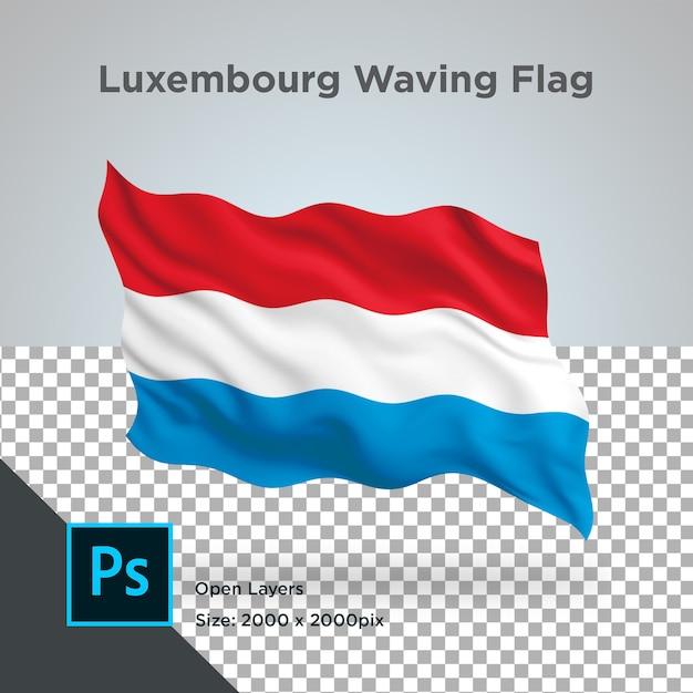 Drapeau Du Luxembourg Wave Design Transparent PSD Premium