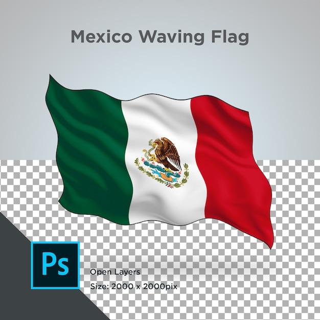 Drapeau Du Mexique Wave Design Transparent PSD Premium