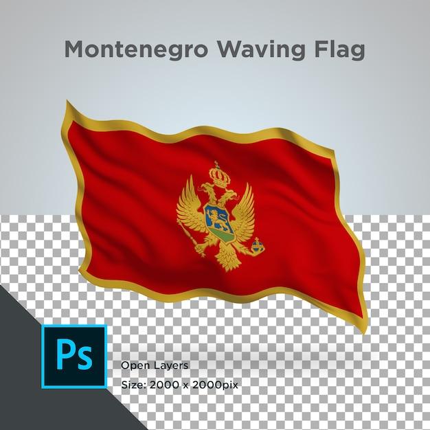 Drapeau Du Monténégro Wave Design Transparent PSD Premium