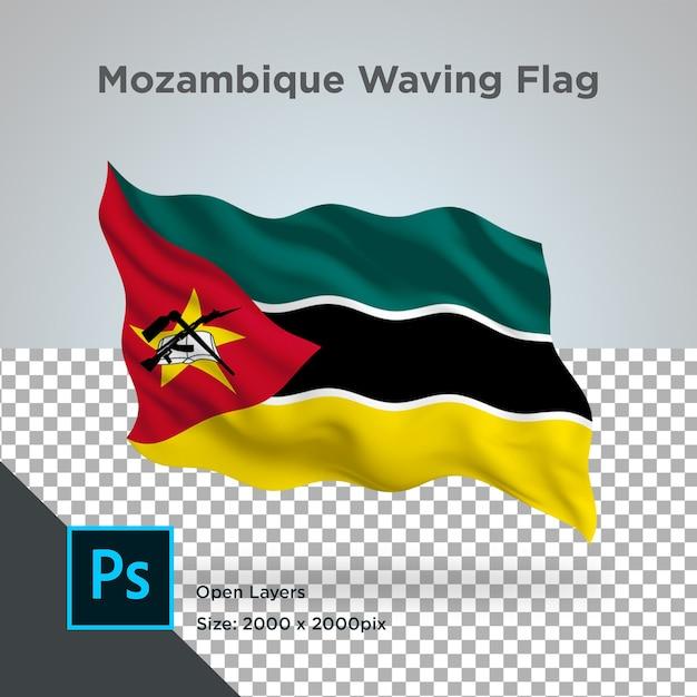 Drapeau Du Mozambique Wave Design Transparent PSD Premium