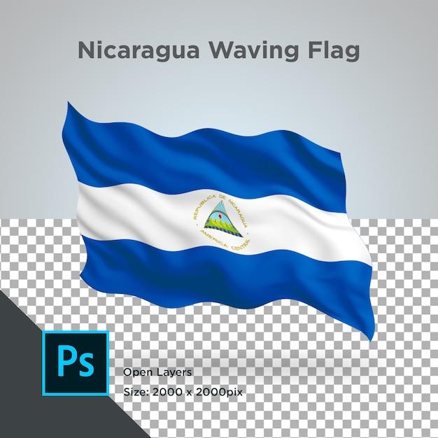 Drapeau Du Nicaragua Wave Design Transparent PSD Premium