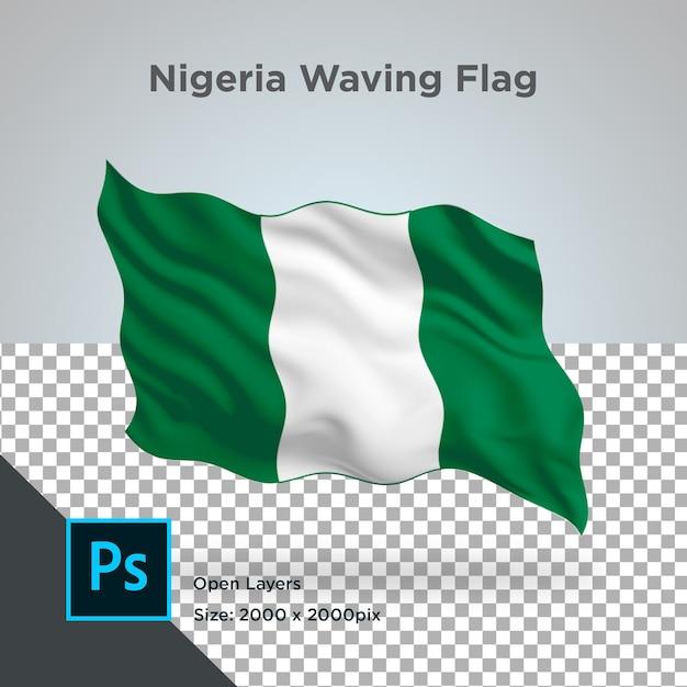 Drapeau Du Nigeria Wave Design Transparent PSD Premium