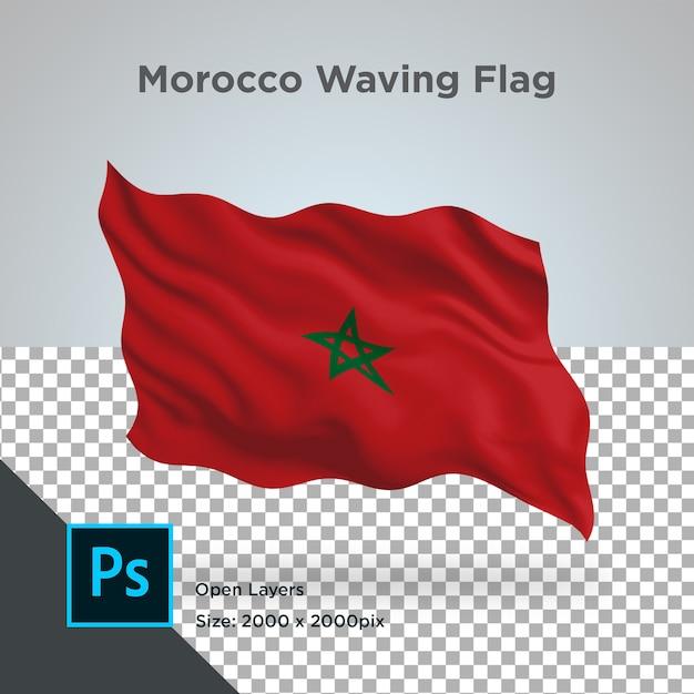 Drapeau Maroc Wave Design Transparent PSD Premium
