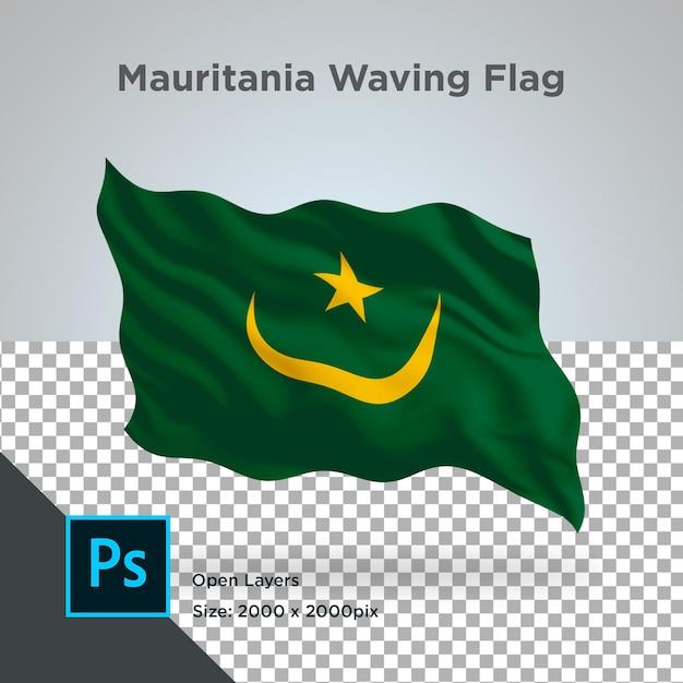 Drapeau De La Mauritanie Wave Design Transparent PSD Premium