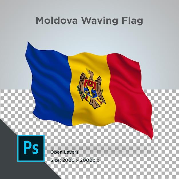 Drapeau De La Moldavie Wave Design Transparent PSD Premium