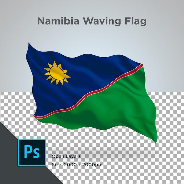 Drapeau De La Namibie Wave Design Transparent PSD Premium