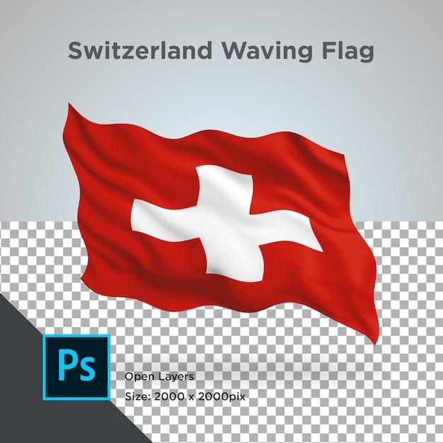 Drapeau De La Suisse Wave Design Transparent PSD Premium