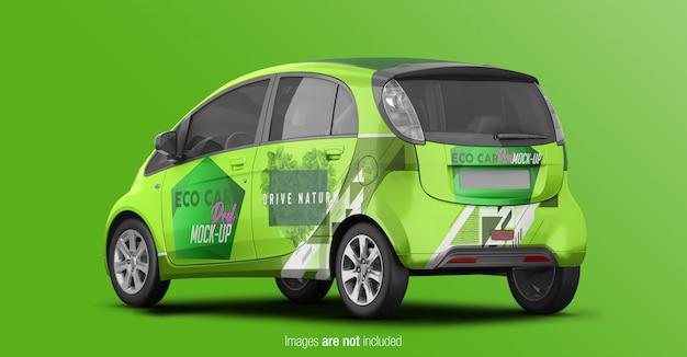 Eco car mackup back vue perspective PSD Premium