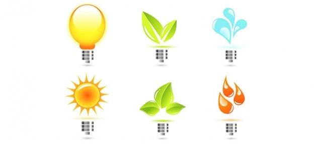 Éco Modèles Ampoule Vecteur Logo Psd gratuit