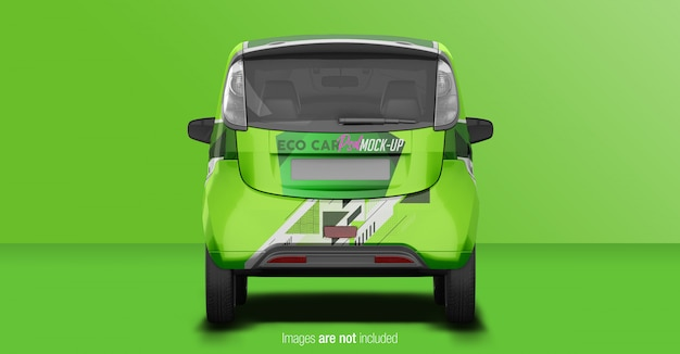 Eco voiture mockup vue arriere PSD Premium