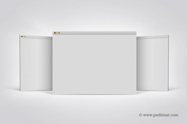 L'écran d'affichage à matrice de navigateur mac Psd gratuit