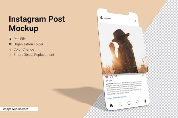 Écran De L'application Instagram Post Maquette Isolée PSD Premium