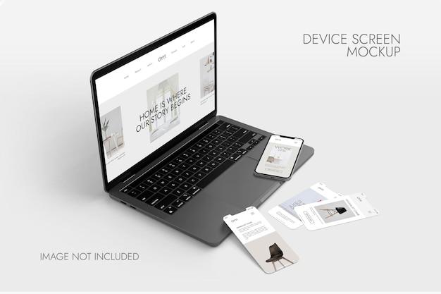 Écran Du Téléphone Et Du Portable - Maquette De L'appareil PSD Premium