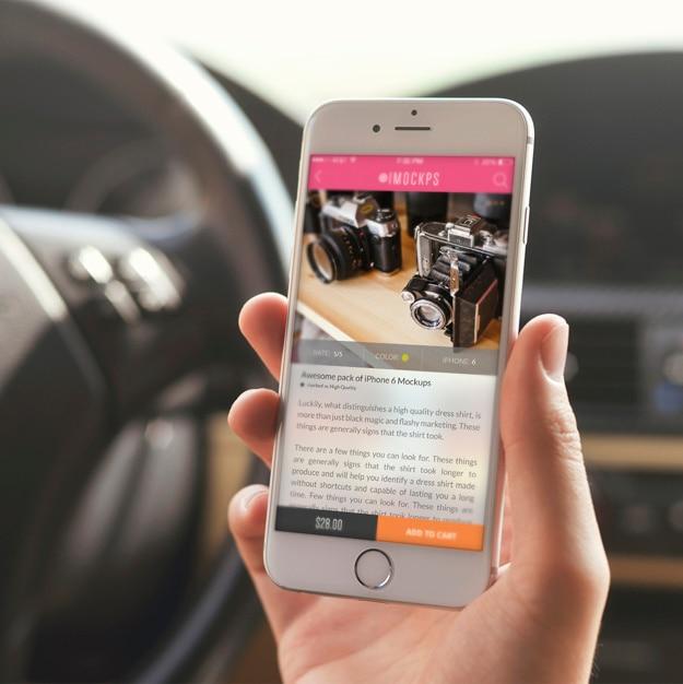 Écran de téléphone mobile maquette conception Psd gratuit