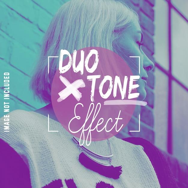Effet Duo Ton Sur Vos Photos Psd gratuit
