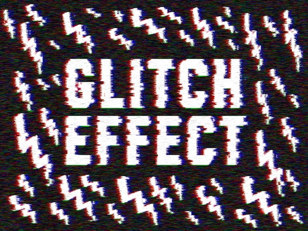 Effet Glitch Sur Vos Images Psd gratuit