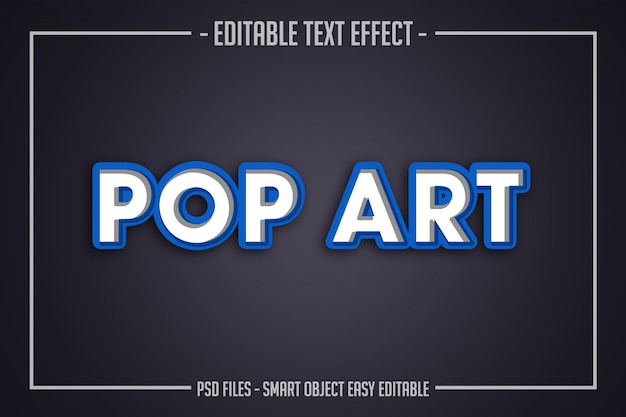 Effet De Police éditable De Style De Texte Pop Art Moderne PSD Premium