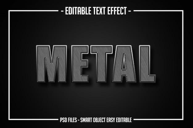 Effet de police modifiable de style de texte en métal 3d PSD Premium