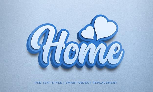 Effet Psd De Style De Texte Modifiable Avec Maquette De Calligraphie Couleur Bleu Maison PSD Premium