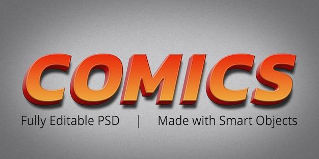Effet De Style Comicstext PSD Premium