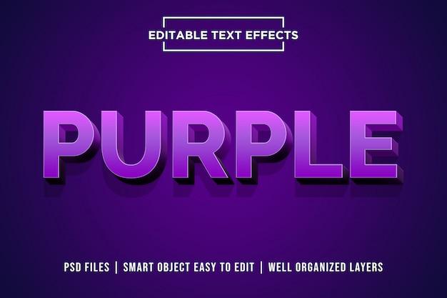 Effet de style texte 3d violet premium psd PSD Premium