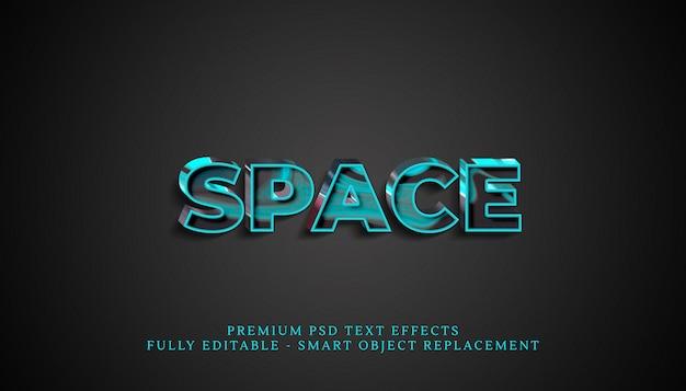 Effet De Style De Texte D'espace Psd, Effets De Texte Psd Premium PSD Premium