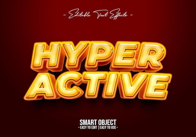Effet De Style De Texte Hyper-actif Psd gratuit
