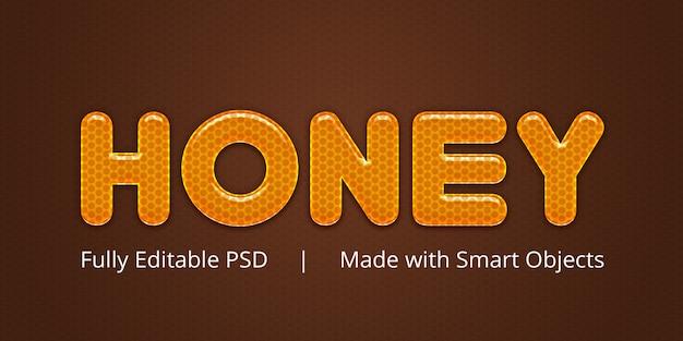 Effet De Style De Texte Miel PSD Premium