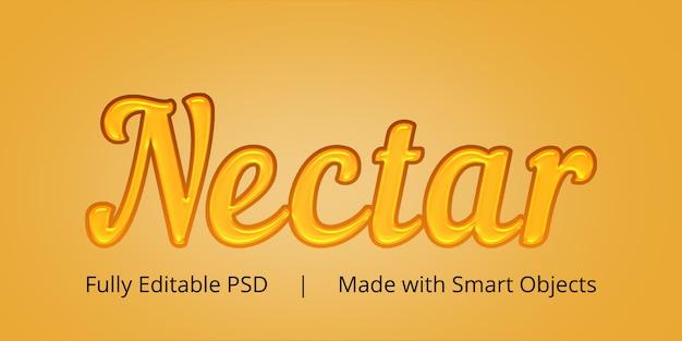 Effet De Style De Texte Nectar PSD Premium