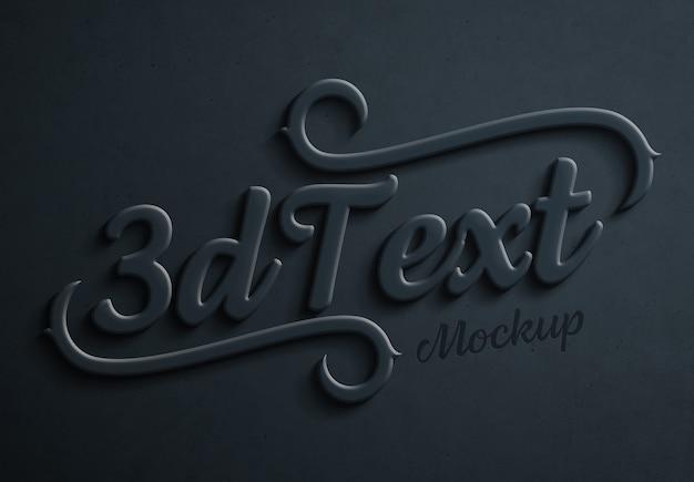 Effet De Texte 3d Audacieux Bleu Foncé Maquette PSD Premium