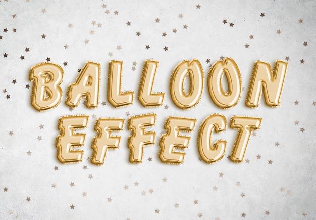 Effet de texte ballon ballon PSD Premium