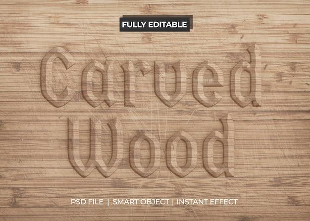 Effet De Texte En Bois Sculpté Psd gratuit
