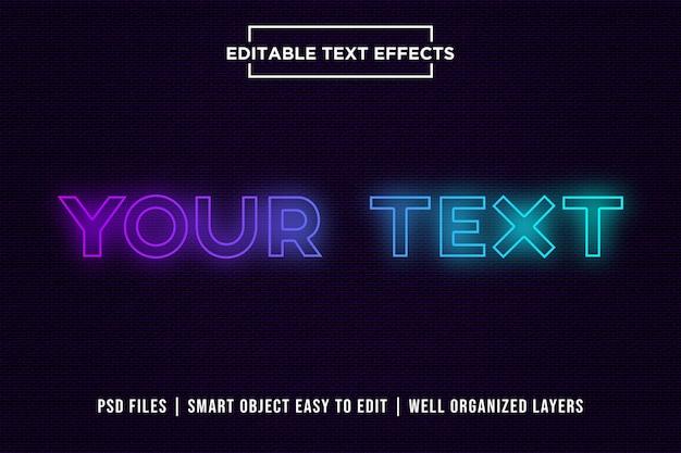 Effet de texte dégradé PSD Premium