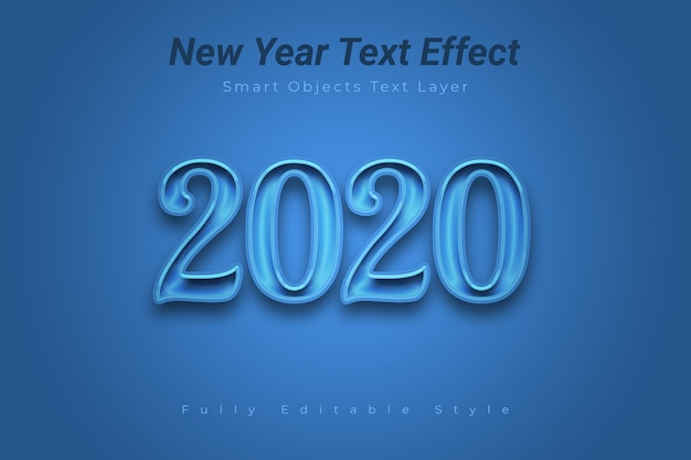 Effet de texte du nouvel an PSD Premium