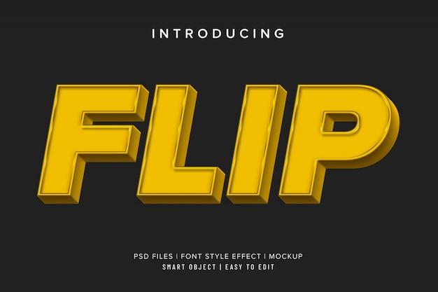 Effet De Texte Flip Carré 3d PSD Premium