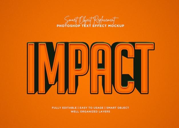 Effet De Texte D'impact De Style 3d PSD Premium