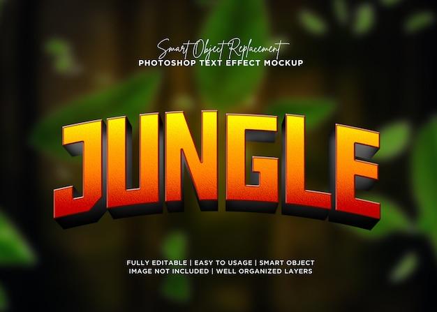 Effet De Texte Jungle Style 3d PSD Premium