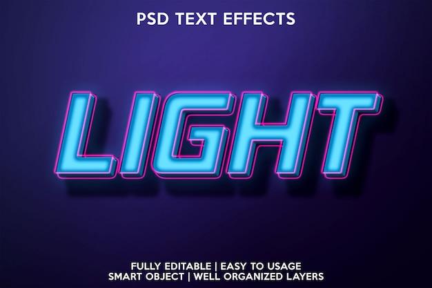 Effet De Texte Lumineux PSD Premium