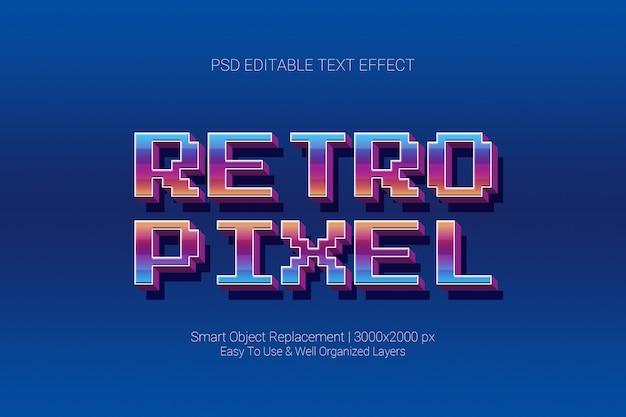 Effet De Texte Modifiable Pixel De Jeu Rétro Classique En 3d PSD Premium