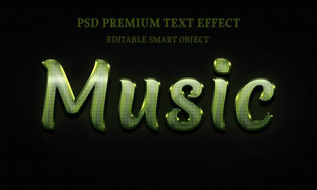 Effet De Texte De Musique Portrait De Belle Femme PSD Premium