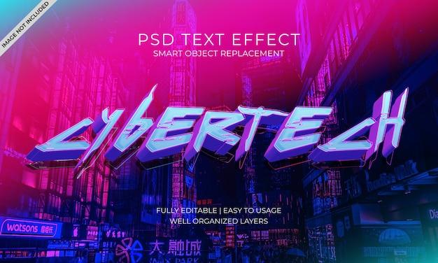 Effet Texte Néon Ouvert PSD Premium