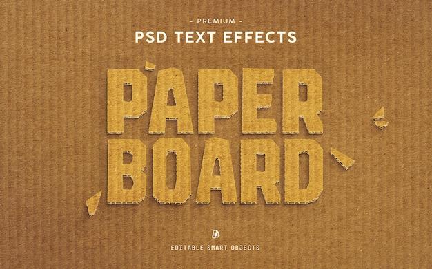Effet de texte paper board premium PSD Premium