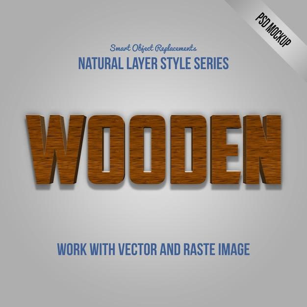 Effet de texte photoshop avec psd maquette et style de calque PSD Premium