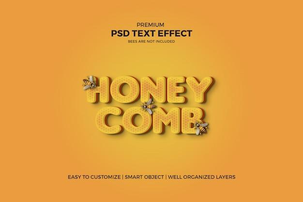 Effet De Texte Psd Style Nid D'abeille 3d PSD Premium