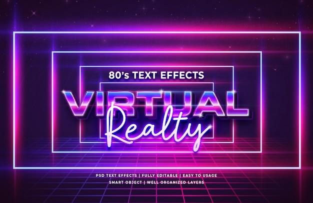 Effet De Texte Rétro Du Festival De La Propriété Virtuelle 80 PSD Premium