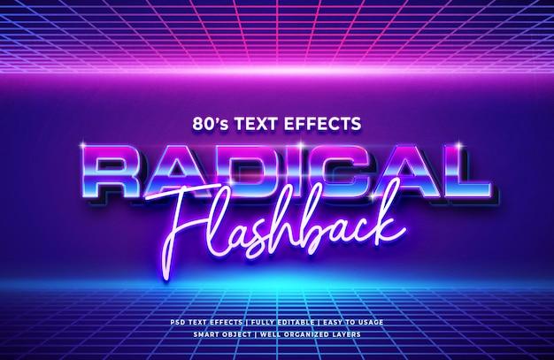Effet De Texte Rétro Du Flashback Radical Des Années 80 PSD Premium