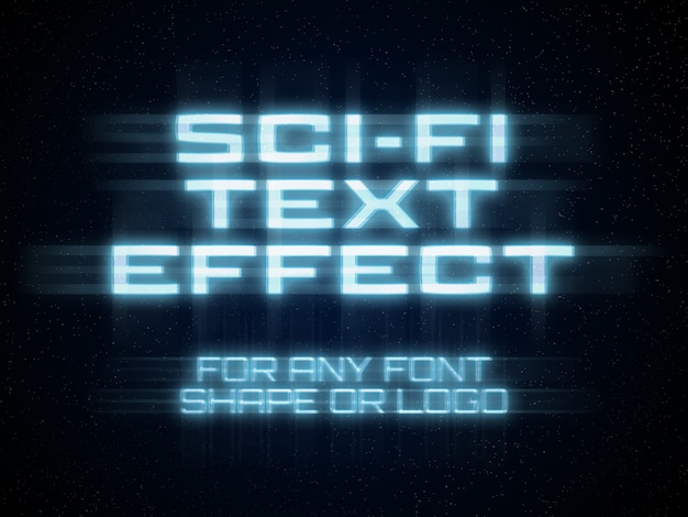 Effet de texte de science-fiction PSD Premium